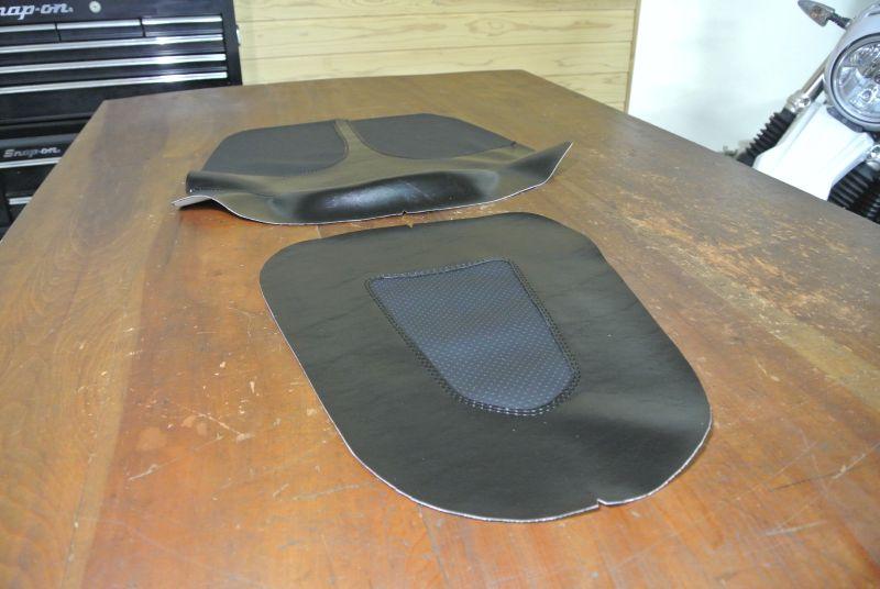 シート表皮製作中